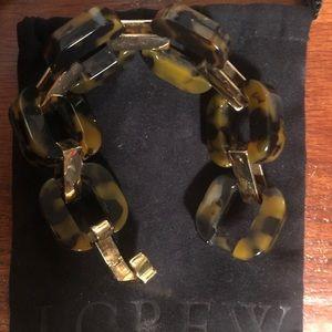 J. Crew Tortoiseshell link bracelet